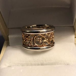 Jewelry - Sterling Silver Two Tone Ring